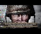 How to Change Language in Call of Duty WWII  Call of Duty WW2 Language Fix