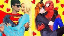 Bad Baby Spidey Date Cat Baby!- Litte Baby Loving Superbaby!-Real Life Pretend Play Family Fun Movie