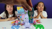 Elly Fountain Toy Challenge Game - WARHEADS EXTREME SOUR CANDY Gift Ems Surprise Eggs