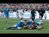 Brilliant Louis Picamoles Try confirmed by TMO - France v Italy 9th February 2014
