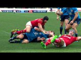 Davies nearly scores before TMO confimrs no try! | RBS 6 Nations