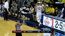 NCAA Basketball. Michigan Wolverines - Central Michigan Chippewas 13.11.17 (Part 2)