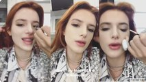 Bella Thorne Makeup Tutorials   Instagram Live   15 November 2017