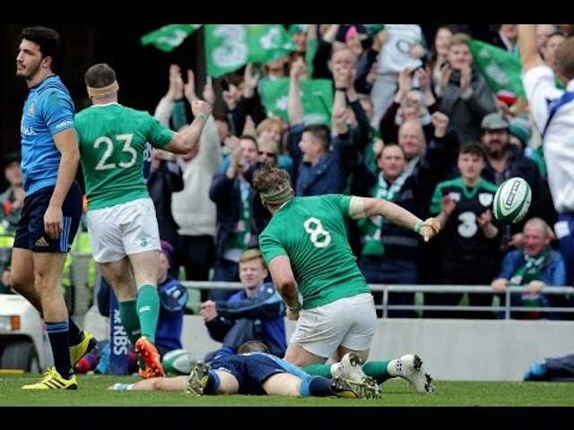 2016 World Rugby Try of the Year - Jamie Heaslip | 2016 RBS 6 Nations