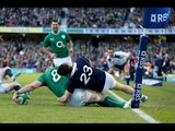 TMO confirms Jamie Heaslip does not score a try - Ireland v Scotland 2nd February 2014