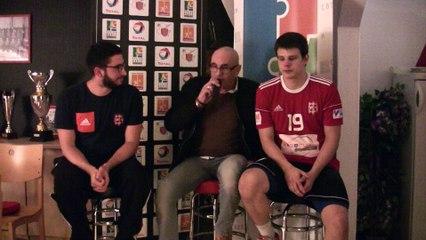 Les réactions de Florian DESSERTENNE et Joscelyn PITOCCO après le match Gonfreville / Amiens