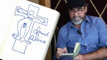 Éric Cantona dessine pour Le HuffPost : Il a bien ri en essayant de nous l'expliquer