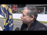 Interview Jean todt and Pierre Fillon during the Grid Walk Session