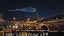 10 Times Alien UFOs Shot Down NASA, USAF, ESA & Russian Missiles & Rockets. Ovnis