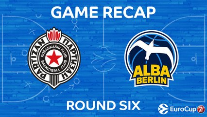 7Days EuroCup Highlights Regular Season, Round 6: Partizan 80-96 ALBA