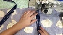 清秀佳人布坊 - 手作教學 - 可摺疊收納的拉鍊購物袋的作法