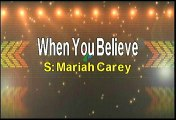 Mariah Carey & Whitney Houston When You Believe Karaoke Version