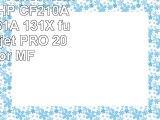 2x Premium Toner Kompatibel zu HP CF210A  CF210A 131A 131X für HP Laserjet PRO 200 Color
