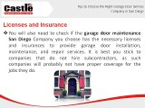 Tips to Choose the Right Garage Door Service Company in San Diego