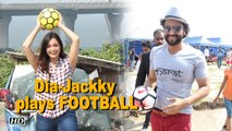 Dia & Jackky turns Children & play FOOTBALL