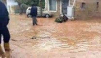 Πλημμύρες σε Μάνδρα- Νέα Πέραμο