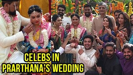 Vaibhav Tatwawadi, Sonalee Kulkarni, Priya Marathe At Prarthana Behere Wedding Reception | Exclusive