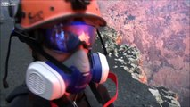 These crazy people filmed the inside of a volcano in activity, Impressive video