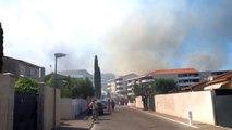 Les images de l'incendie du quartier de l'Escaillon à Martigues