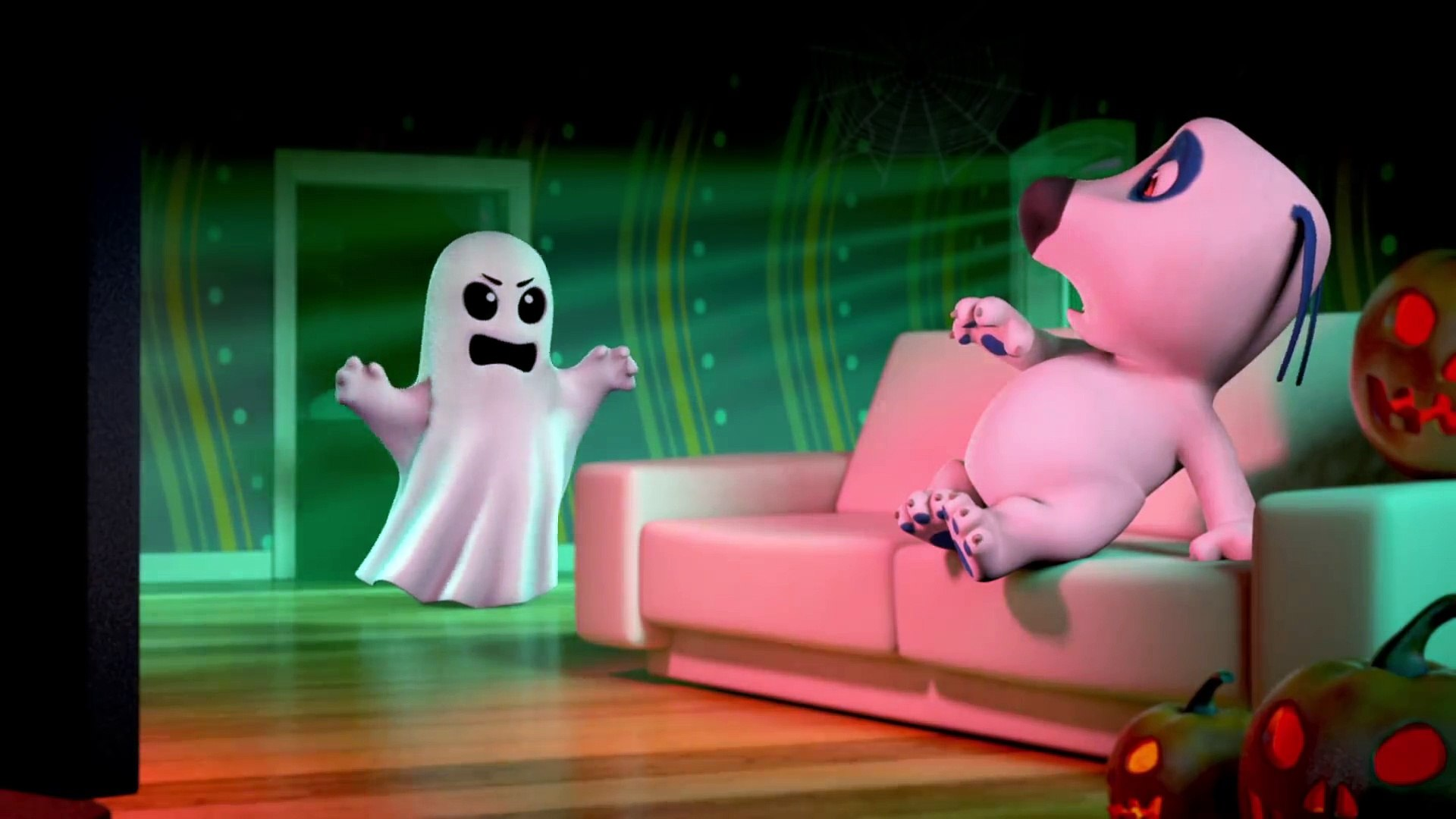 Talking Tom Shorts 37 - Scary Movie ( Kids )