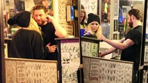 Avril Lavigne Kisses Boyfriend While Getting Tattoos