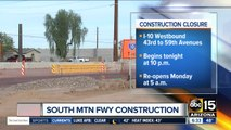 I-10 WB closures set for new South Mountain Freeway work