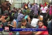 Ciudadanos venezolanos pasarán la noche formando largas colas en Migraciones