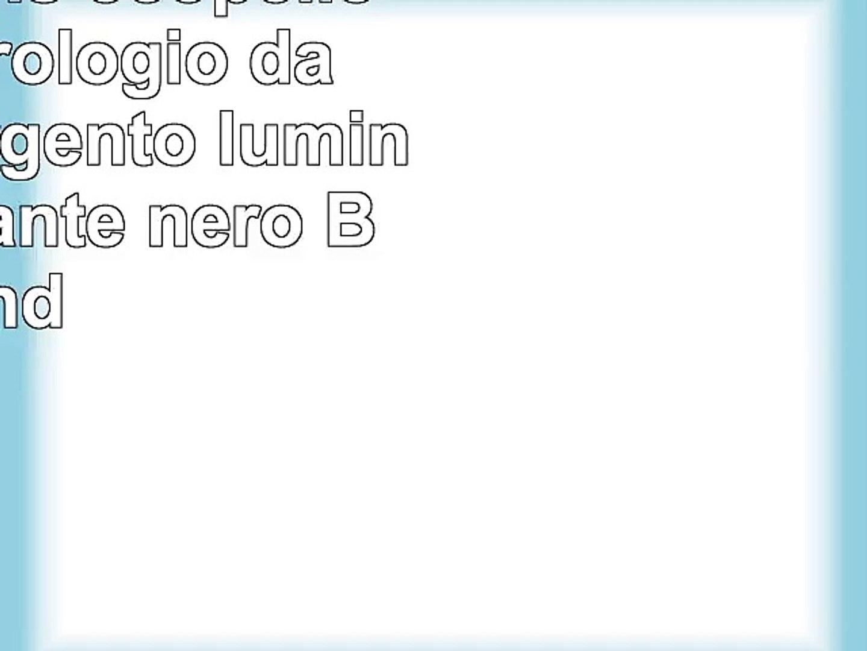 Yazole mens ecopelle quarzo Orologio da polsoargento luminoso quadrante nero Band