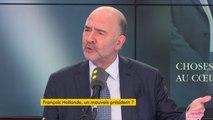 """François Hollande """"Ce quinquennat a été celui de beaucoup de réussites mais aussi d'échecs qui ont précipité la gauche dans un abîme"""" juge Pierre Moscovici"""