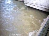 La Seine prête à déborder à Châtillon-sur-Seine