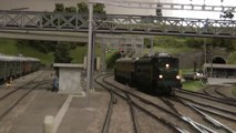 Cab ride on an underground model railway layout - video dailymotion