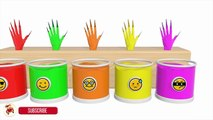 Learn Colors With Hand Body Paint Finger Family Song Nursery Rhymes- Colors for