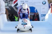 Dans la  descente de bobsleigh de Saint-Moritz avec Romain Heinrich