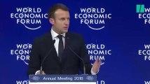 À Davos, la blague de Macron fera sans doute rire jaune Trump