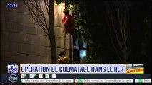 Crues: la SNCF lance une opération de colmatage pour protéger le RER C