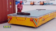 China manufacturer low voltage rail powered steel plate rail transfer cart test site