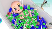 Learn colors Baby doll bath Playing time II - 3D Learn Colors & Play Part 2