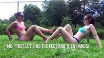 Yoga Challenge easy  Beautiful Girl Yoga Challenge Bikini   Bikini Yoga Challenge Yoga Workout