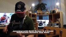 Jamming with Funk Fusion in F minor Pentatonic HD720 m2 Bassline2 Bob Roha