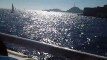 Du vieux Port Marseille vers l'île du Frioul