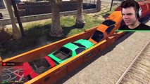 MID-AIR CAR PARACHUTE BATTLE (GTA 5 Free Roam)