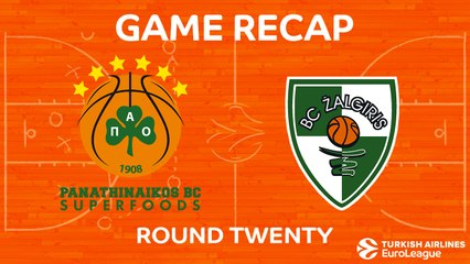 EuroLeague 2017-18 Highlights Regular Season Round 20 video: Panathinaikos 94-93 Zalgiris