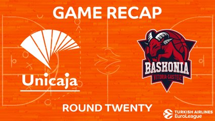EuroLeague 2017-18 Highlights Regular Season Round 20 video: Unicaja 83-85 Baskonia