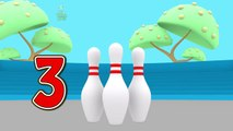 BOWLING BALLS - Turtle With Mini Bowling Learning Colors For Children and Kids | Torto Ball