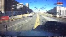 Une femme fait un violent accident de voiture en tentant un demi-tour sur l'autoroute (Vidéo)