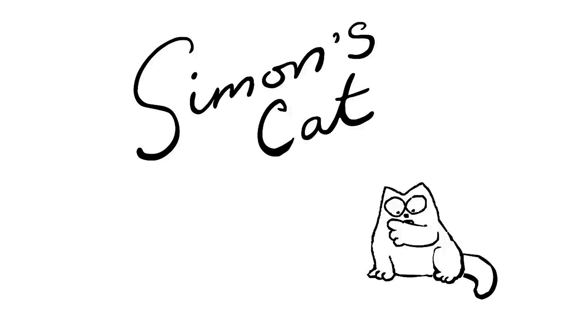 Field Trip - Simon's Cat   BLACK & WHITE
