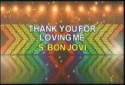 Bon Jovi Thank You For Loving Me Karaoke Version