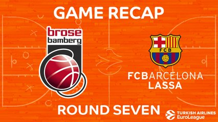 EuroLeague 2017-18 Highlights Regular Season Round 7 video: Bamberg 84-81 Barcelona