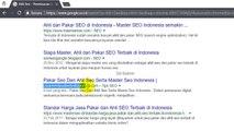 Ahli Seo dan Pakar Seo Serta Master Seo Indonesia