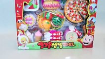 Toy Velcro Cutting Cake Pizza Ice Cream Play Doh Toy Surprise Learn Fruits English Names
